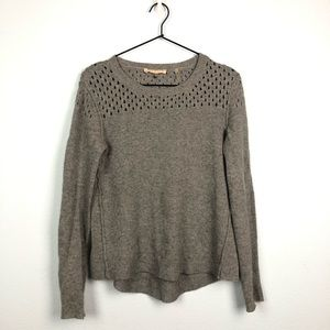 Rebecca Taylor Knit Pullover Sweater Grey Wool XS